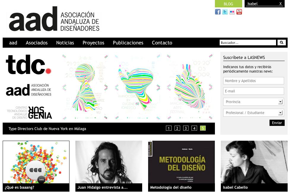 Isabel Cabello nuevo miembro de la Asociación Andaluza de Diseñadores