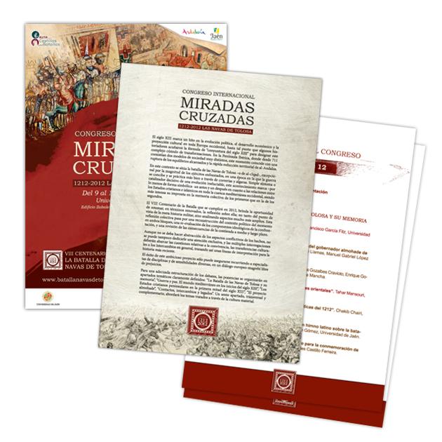 By Cabell Design Studio: Material Para El Congreso Internacional Miradas Cruzadas