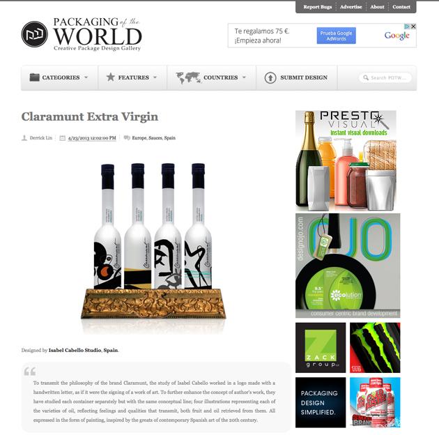 Claramunt en Packaging of the world