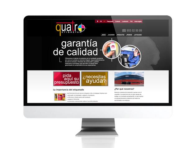 Web corporativa para Quatroetiquetas