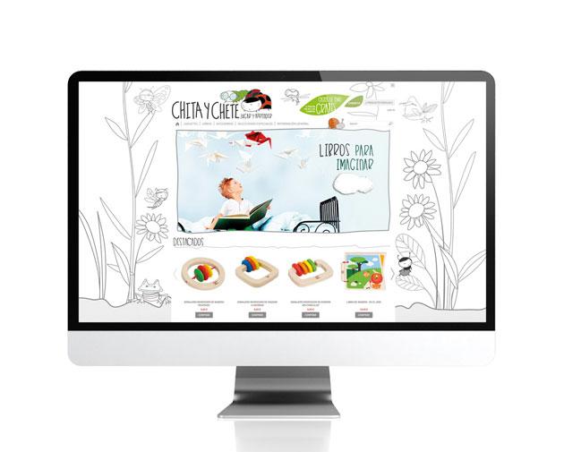 Diseño para tienda online para Chita y Chete