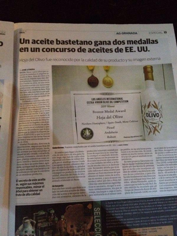 Publicación en Ideal Granada
