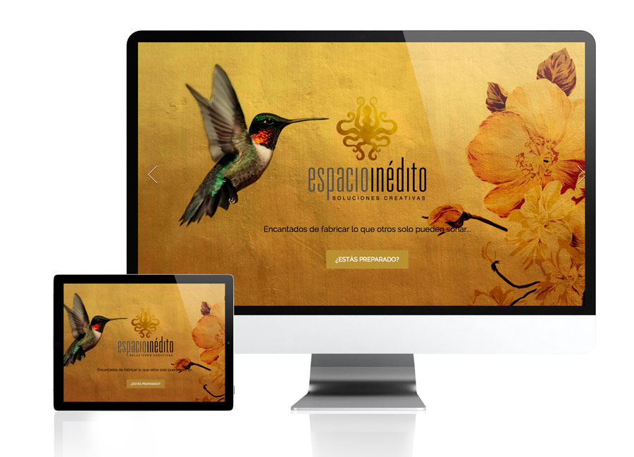 Diseño web para Espacioinedito