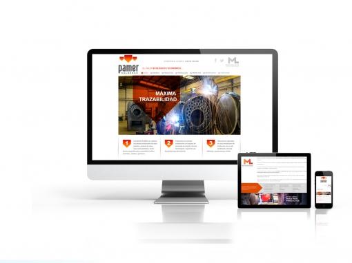 Diseño web Calderas Pamer