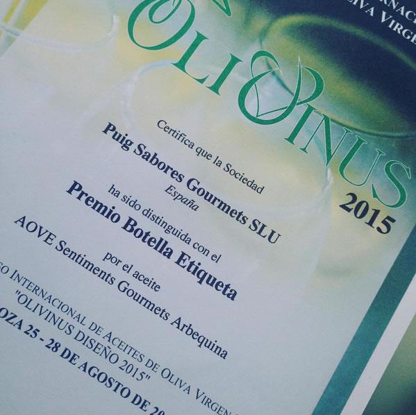 Nuevo premio en Olivinus 2015 (Argentina)