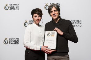 Recibimos en Frankfurt un GERMAN DESIGN AWARD 2016