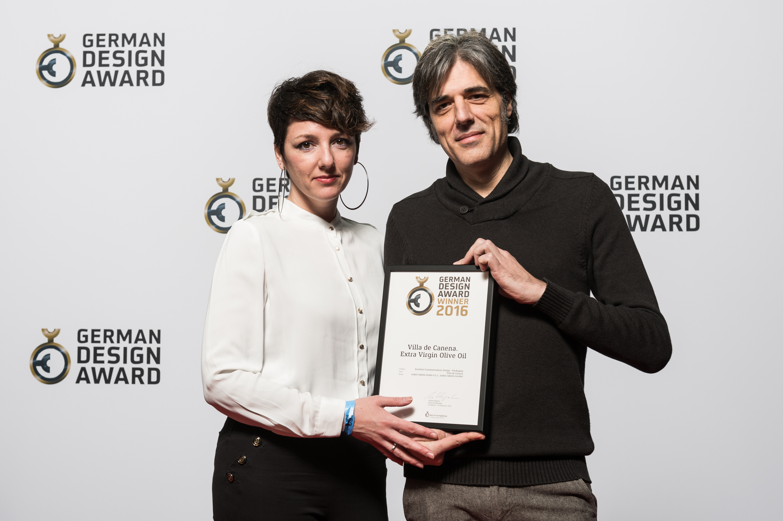 Recibimos en Frankfurt un GERMAN DESIGN AWARD 2016