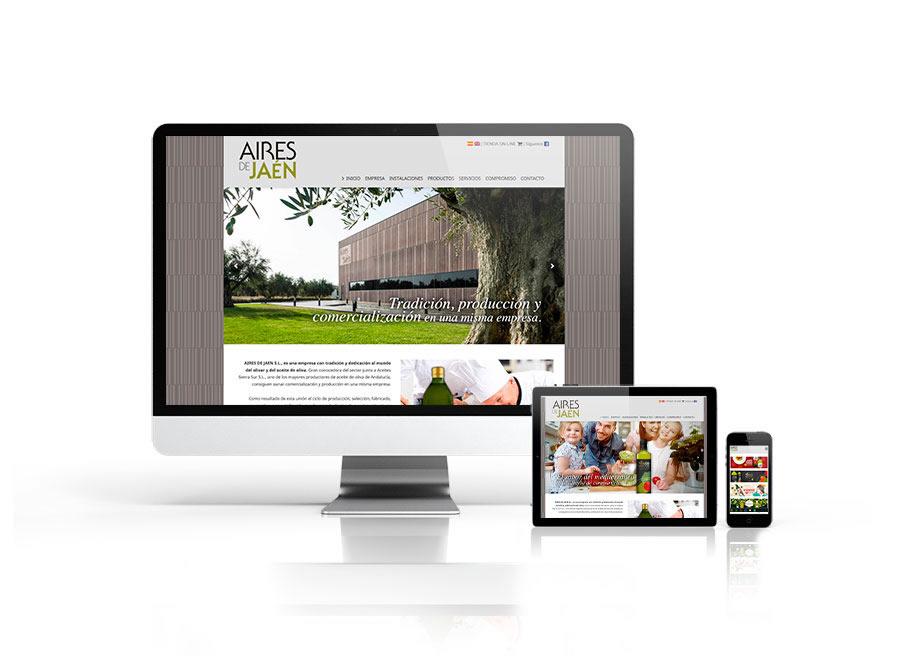 Diseño nueva web Aires de Jaén