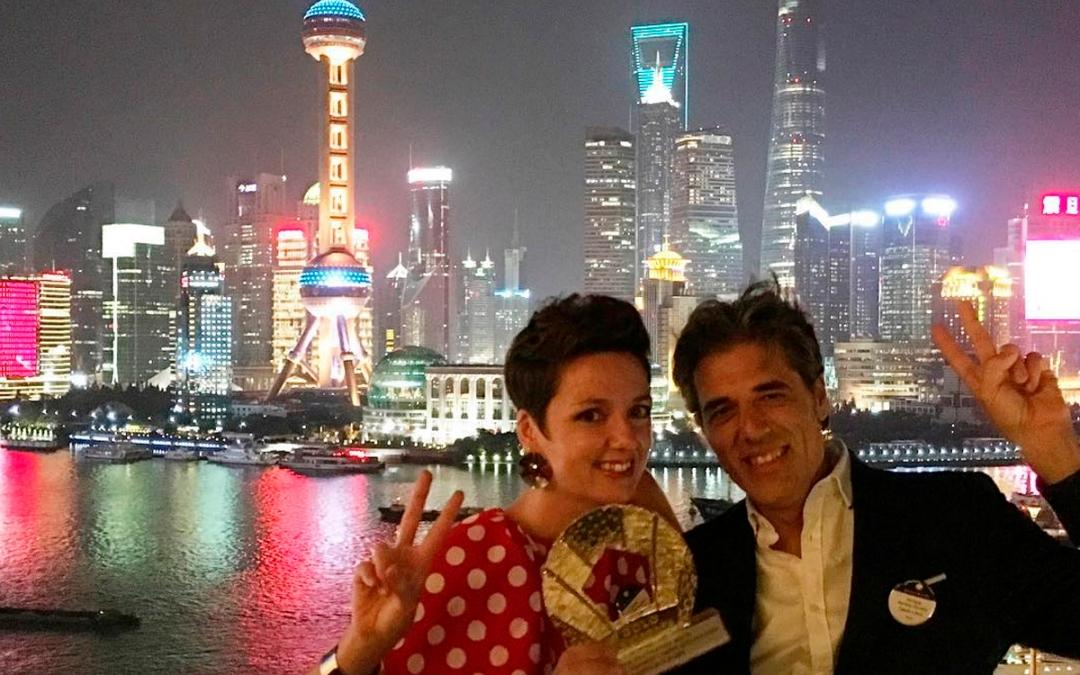 Recibimos en Shangai un Pentawards de oro por nuestro packaging para Cortijo el Puerto