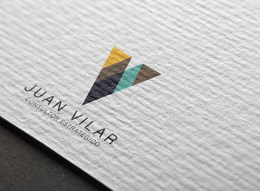Diseño de marca para «Juan Vilar Consultor Estrátegico»