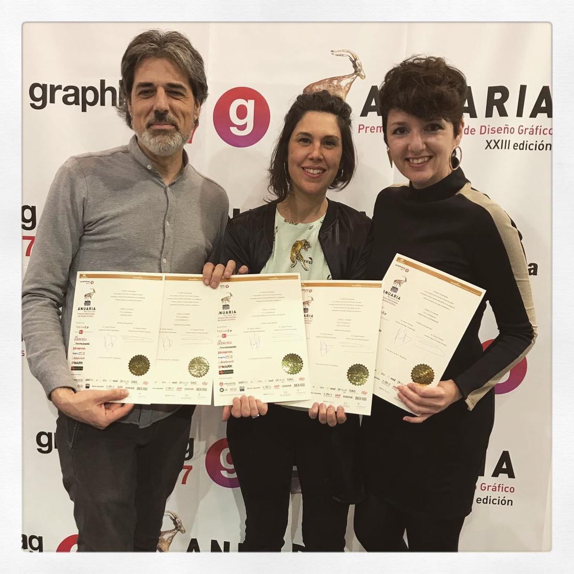 """PREMIOS ANUARIA 2016. Cinco nuevos premios """"Selección Anuaria"""" Para Cabello x Mure"""