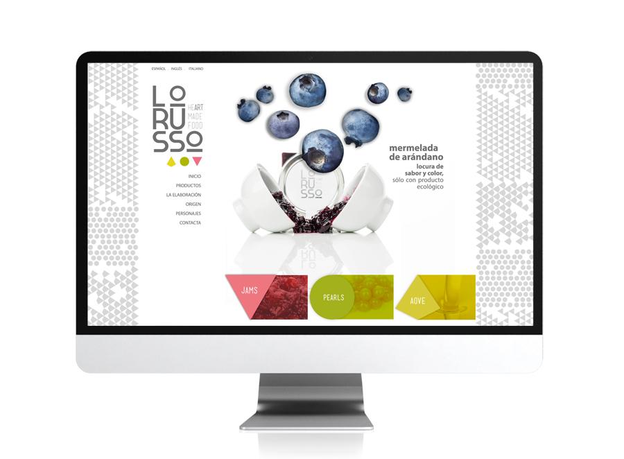 Web y tienda online para la marca premium Lorusso Food