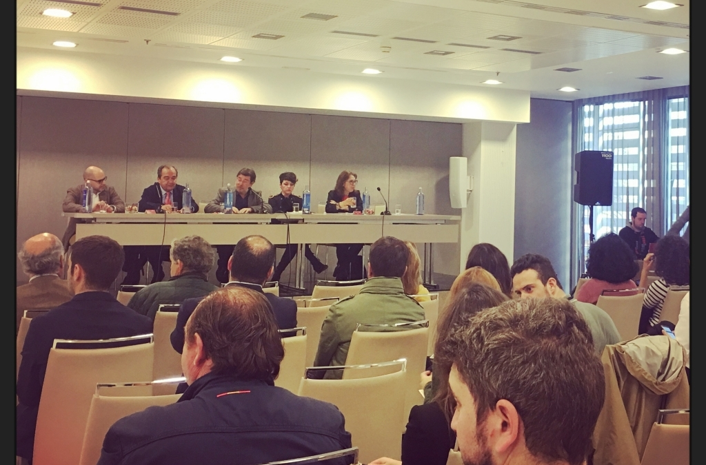 Mesa coloquio en el V Salón Olipremium celebrado en Madrid