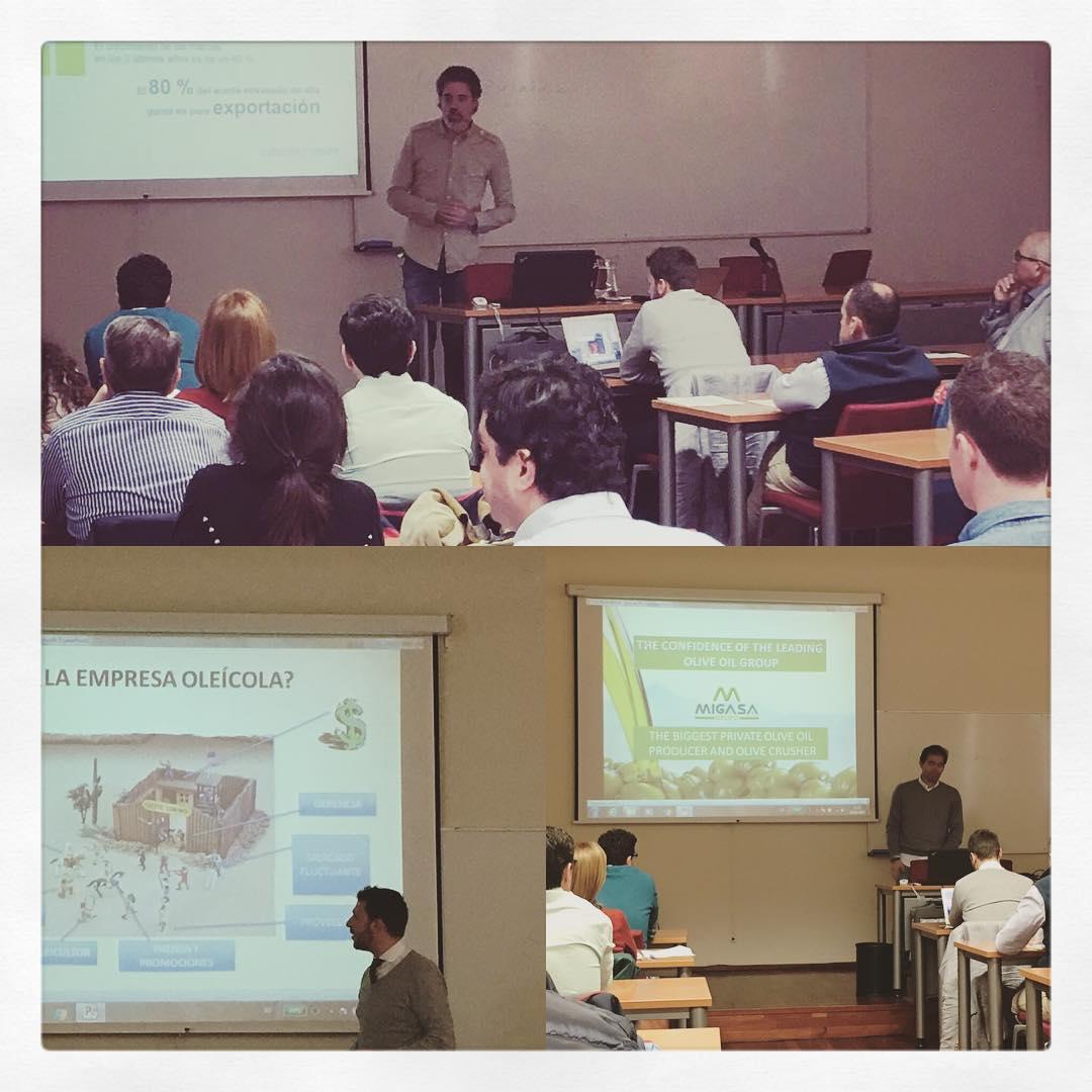 Volvemos como ponentes al II Máster en Administración de Empresas Oleícola