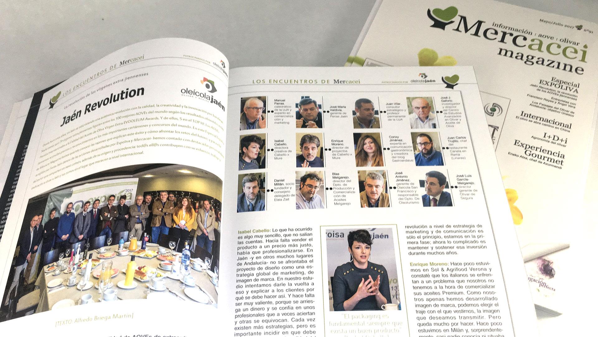 Artículo en Mercacei Magazine especial Expoliva