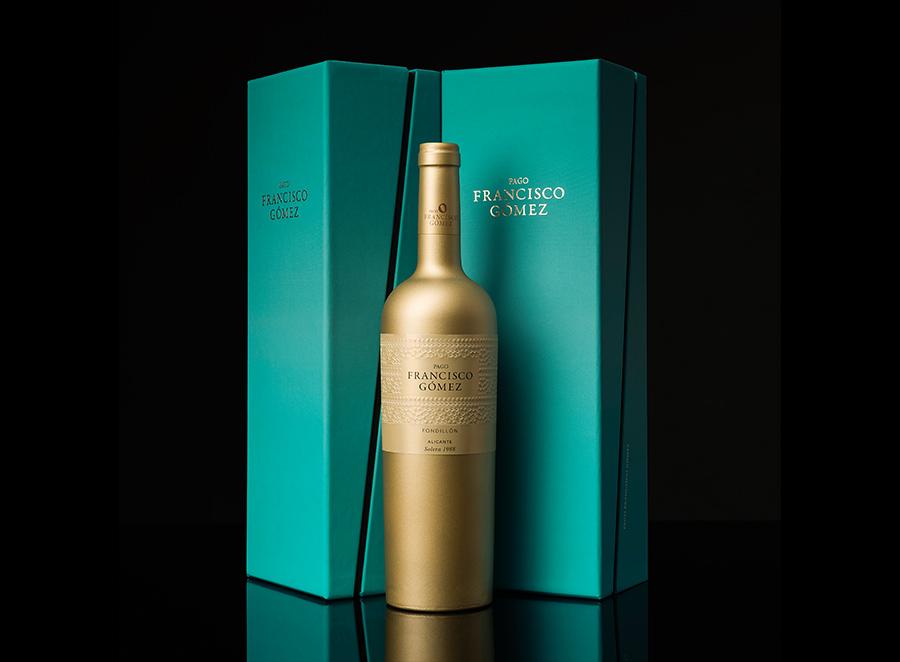 """Diseño de packaging para el vino """"Pago Francisco Gómez"""""""