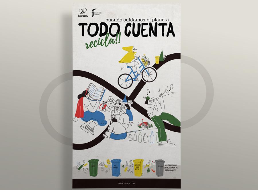 Campaña «Todo Cuenta. Recicla» para la Diputación de Jaén