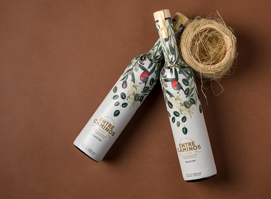 Diseño para «Entrecaminos» Aceite de oliva virgen extra
