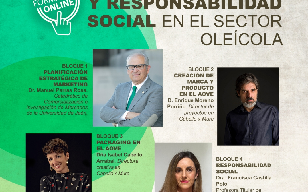 Co-dirigimos y participamos en el curso Plan de marketing, marca, packaging y RS en el sector oleícola